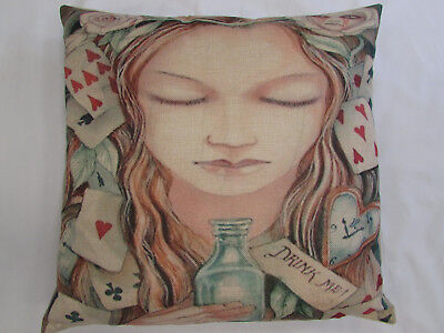 """Cushion Cover 45 x 45cm (18"""" x 18"""")beautiful designs many to choose Alice/Gothic"""
