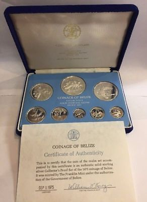 1975 Belize Silver Proof Set of 8 Coins