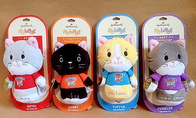 Hallmark Itty Bitty Bittys Kitten Bowl 2017 Complete Set of 4 Limited Editions