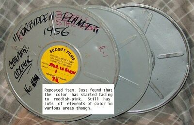 Forbidden Planet 16mm 1956 3 reels/in cans Color fading COMPLETE