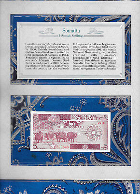 *Most Treasured Banknotes Somalia 1987 5 Shillings GEM UNC P31c Serie D016