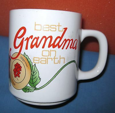 Porcelain Mug Cup Best Grandma on Earth Japan