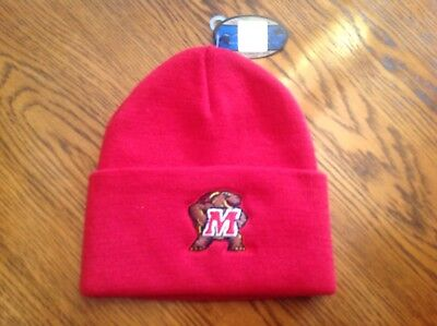 30b40a88e68 MARYLAND TERRAPINS TOP of the World Beanie   Toque   Knit Hat Black ...
