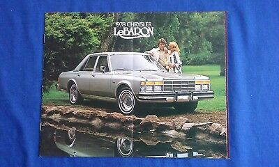 1978 Chrysler LeBaron Car Sales Brochure