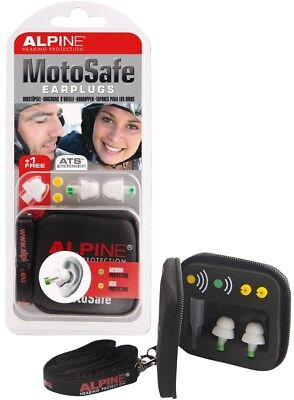 Alpine MotoSafe Hearing Protection Ear Plugs for Motorcycle Riders incl bag and