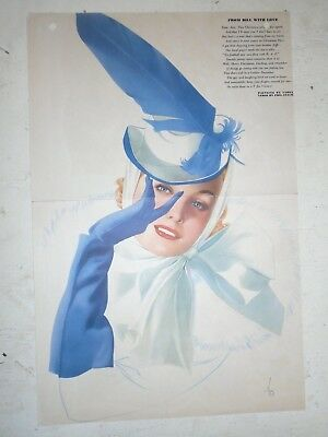 1941 Varga Girl Original Esquire Gatefold - From Bill with Love