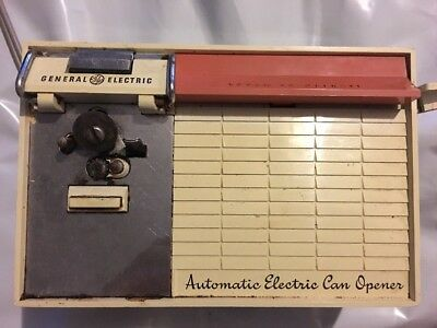vintage automatic electric can opener General Electric Works Can Opener