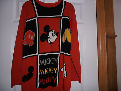 Disney - Mickey Mouse Body Parts Sweater -  Size Small