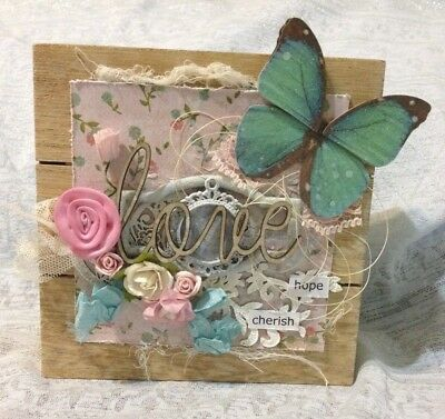Altered Mini Crate Mixed Media Papercrafting Shabby Chic Love