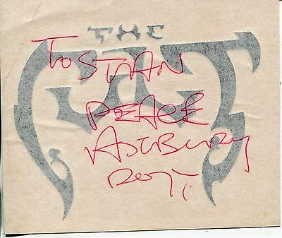 Ian Astbury Of Rock Group The Cult & The Doors Signed Decal Autograph