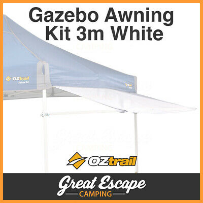 Oztrail Removable Gazebo Awning Kit White Suits Deluxe 3m Gazebo