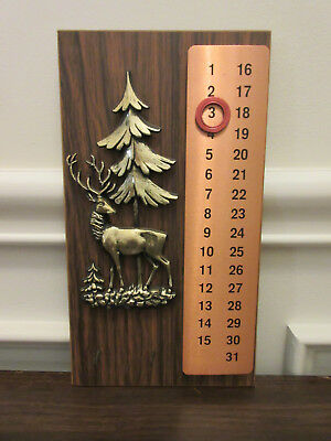 Vintage German Wall Calendar -- Adjustable From 1 To 31 Days --