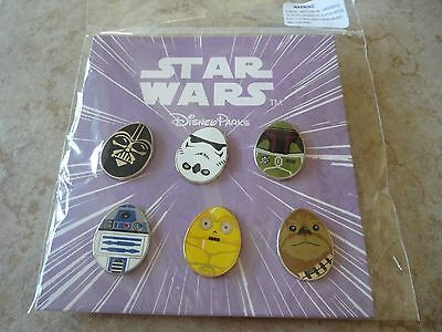 Disney Trading Pins Lot of 6 New Booster Set Star Wars Easter Eggs Darth Vader