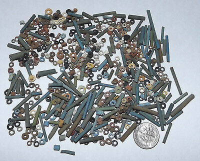 More than FIVE HUNDRED 2500 Year old Ancient Egyptian Mummy Beads (#G3025)
