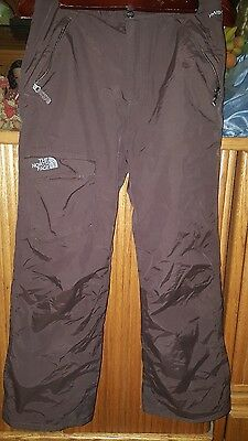 The North Face Brown Hyvent Ski/snow Boarding/snow Pants Size Small Pockets Zip