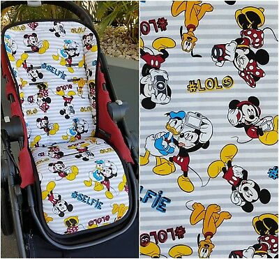 Mickey Mouse & Friends Universal Pram Liner with Wings Boys Girls Minnie Donald