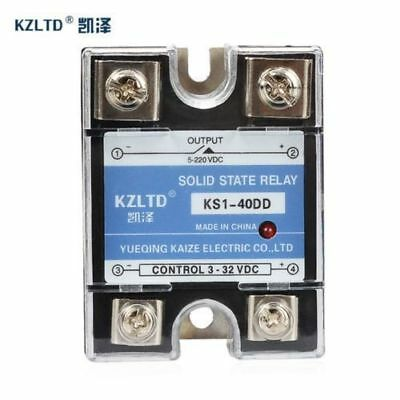 SSR-40DD 40A Solid State Relays 40A SSR 3-32V DC to 5~220V DC Relay Module for P