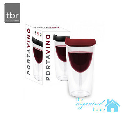 TBR Portavino Outdoor Plastic Double Wall Travel Wine Tumbler