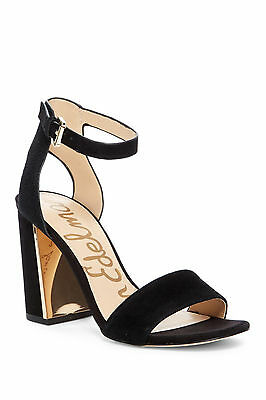 NWB SAM EDELMAN 'Synthia' Suede Leather Sandal BLACK SZ 7.5M