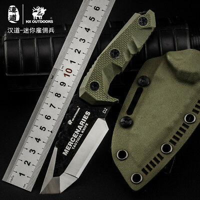 HX OUTDOORS Fixed Blade Knife with G10 Sheath