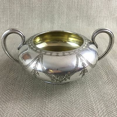 Antique Silver Plated Bowl Twin Handled Ornate Elkington & Co 1859 Nut Candy