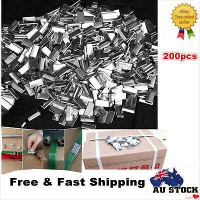 200pcs PET Strap Seals Metal Seals Packing Strap Clips for PET Strap Heavy Duty
