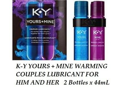 KY-Yours & Mine-TWIN-PACK-Couples-Lubricant-Excites-Delights-HIS-HER-2-x-44mL