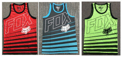 Fox Racing Youth Crew Neck Vest Sleeveless T-Shirt Tank Top Casual Size S-XL
