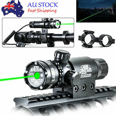 Green Laser Sight Mount Scope Rail for Rifle & Remote Switch Tactical Hunting-AU