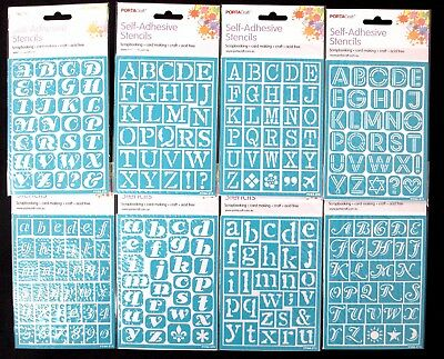 Self-Adhesive Alphabet Stencils - Scrapbooking Art Diy Fonts Alphabetical Paint