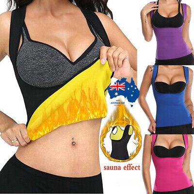AU Women Sauna Hot Body Shaper Corset Top Sweat Weight Loss Workout Shapewear