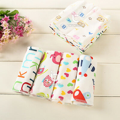 6PCS/Set Baby Kids Soft Wash Cloth Bath Feeding Shower Saliva Wipe Towel Cotton