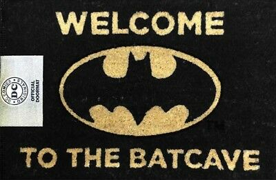 NEW! DC Comics. Batman. Welcome To The Batcave. Officially Licensed Door Mat.