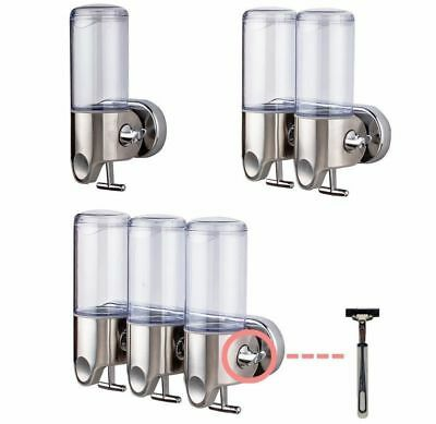 New Wall Mounted Soap Dispenser Toilet Shower Gel Shampoo Conditioner Dispensers
