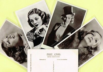 PICTUREGOER - MAIN Series 1930s Film Star Postcards #501 to #546