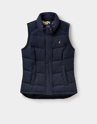 Joules 124334 Womens Eastleigh Padded Gilet with Cotton Lining in Marine Navy