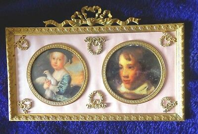 Superb vintage French Napoleon III double picture/photo frame