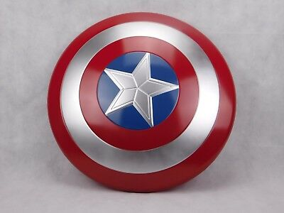 "Captain America Retro Schild Shield 24"" 60cm Ø Avengers Marvel Superheld Hero"