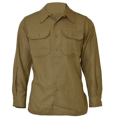 Repro WW2 US Army M37 Olive Drab Wool Shirt - All Sizes American Top Soldier New