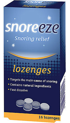 Snoreeze Dual Action,Fast Dissolving Lozenge, Effectively Treats Snoring, Mint