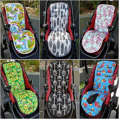 Universal Reversible Pram Liners & Strap Covers - 50+ Fabrics Avail - Boys Girls
