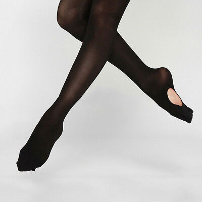 Convertible Tights Dance Stocking Socks Ballet Pantyhose for Kids&Adults Soft AY