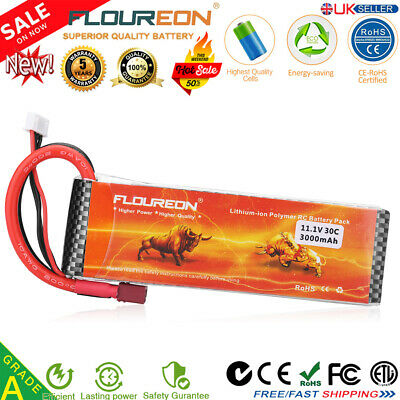 11.1V 3S 30C 3000mAh Li-po Deans Battery for RC Car Helicopter Airplane RC Drone