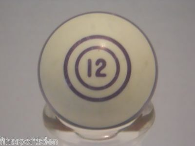 Old Vintage #12 Purple Stripe POOL BALL Favorite Lucky Number Display Shift Knob