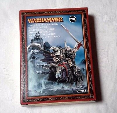 WARHAMMER FANTASY: Vampire Counts Mannfred Miniature METAL NEW NOT SEALED
