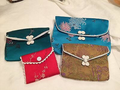 Japanese Satin Change Purses Set of 4