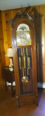 vintage grandfather clock by the American chime Clock Company Philadelphia PA