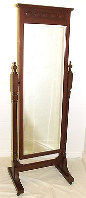 Wonderful Antique Mahogany Framed Cheval Mirror / Dressing Mirror c 1900