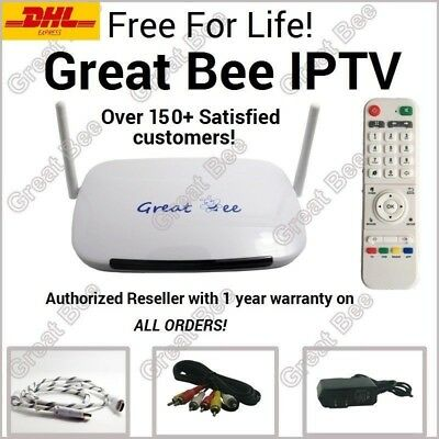 Great Bee 2017 Arabic TV box IPTV support 400+Arabic channels Free For Life