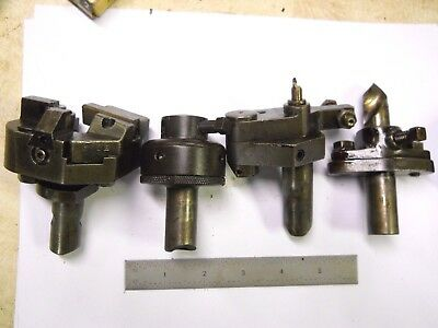 """4 - turret tools for Hardinge or B&S turret lathes or screw machines 3/4"""" shank"""